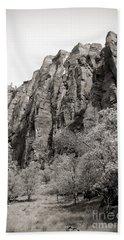 Zion National Park Sepia Tones  Beach Sheet