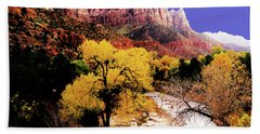 Beach Towel featuring the photograph Zion's Watchman by Norman Hall