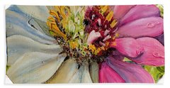 Zippy Zinnia Beach Towel
