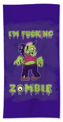 Beach Towel featuring the digital art Zombie by Julia Art