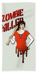 Zombie Killer Beach Towel