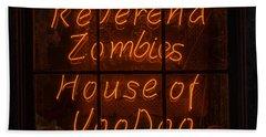 Zombies House Of Voodoo Beach Towel
