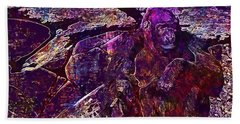 Beach Sheet featuring the digital art Zoo Monkey Animal  by PixBreak Art