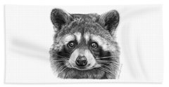 046 Zorro The Raccoon Beach Towel