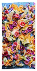 Zucchini Blossoms Season Beach Towel