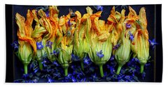 Zucchini Flowers Beach Towel