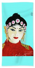Beach Towel featuring the painting Zui Meili De by Roberto Prusso