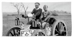 Zulu Motor Cab 1903 Beach Towel