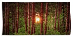 010 - Pine Sunset Beach Towel