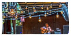 025 - Guitarist And Lights Beach Towel
