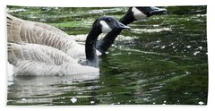 031619 Geese City Park New Orleans Beach Towel