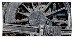 062 - Locomotive Wheel Beach Towel