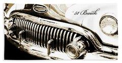 1951 Buick Super, Digital Art Beach Towel