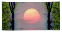 Beach Towel featuring the digital art A New Day by Edmund Nagele