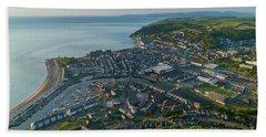 Aberystwyth From The Air Beach Towel