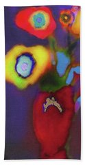 Abstract Floral Art 367 Beach Towel