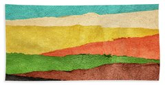 Abstract Landscape Created With Handmade Paper Beach Sheet
