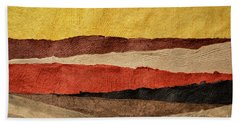 Abstract Landscape In Earth Tones Beach Towel