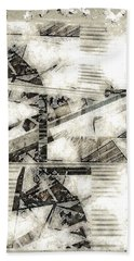 Abstract Triptych Beach Towel