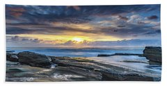 An Atmospheric Coastal Sunrise Beach Sheet