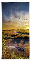Beach Towel featuring the photograph An Old Road by Phil Koch