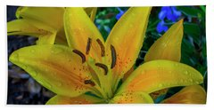 Asiatic Lily Beach Towel