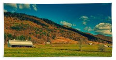 Autumn Farmland - West Virginia Beach Towel