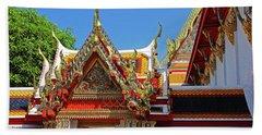 Bangkok, Thailand - Wat Phra Kaew - Temple Of The Emerald Buddha Beach Towel