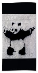 Banksy Panda Beach Towel