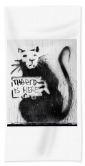 Banksy Rat The End Is Here Beach Towel