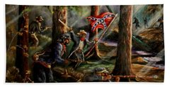 Battle Of Chancellorsville - The Wilderness Beach Sheet