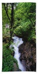 Beach Towel featuring the photograph Bela River, Balkan Mountain by Milan Ljubisavljevic