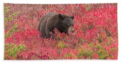 Berries For The Bear Beach Towel