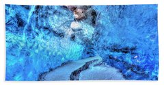 Blue Ice Cave - Iceland Beach Towel