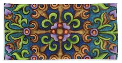 Botanical Mandala 8 Beach Towel