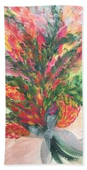 Bouquet And Ribbon Beach Towel