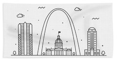 Fort Worth Cityscape Travel Poster Beach Towel