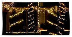 Beach Towel featuring the photograph Christmas Lights 2 12753 by Jerry Sodorff