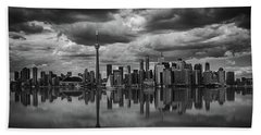Clouds Over Toronto Beach Towel