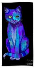 Colorful Calico Cat Beach Towel