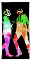 Daft Punk Watercolor Beach Towel