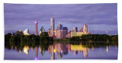 Dallas Texas Cityscape Reflection Beach Towel