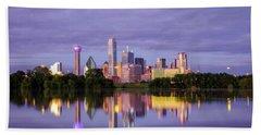 Dallas Texas Cityscape Reflection Beach Sheet