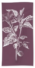 Datura Purple Flower Beach Towel