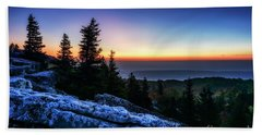 Dawn At Bear Rocks Preserve Beach Towel