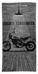 Ducati Scrambler Red Wall Beach Towel
