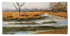 Early Spring On The Marsh Beach Towel