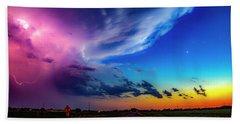 Epic Nebraska Lightning 007 Beach Towel