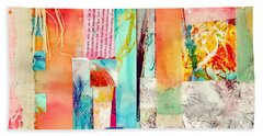 Beach Towel featuring the painting Evermore by Tracy Bonin