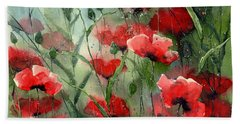 Everything About Poppies Beach Towel